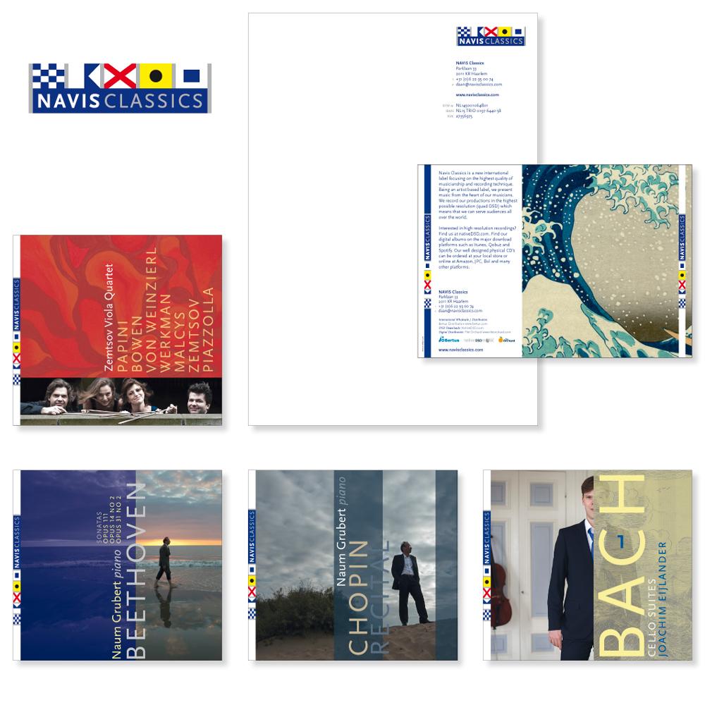 Huisstijl CD-label Navis Classics